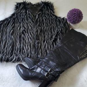 ALDO Faux Fur Vest Size L